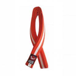 Karate Belt - Orange with White Stripe