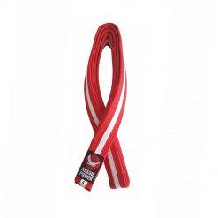 Karate Belt - Red with White Stripe