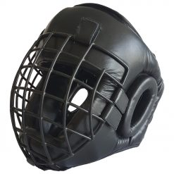 Caged Head Guard - Leather