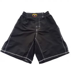 MMA Shorts - Black with White stitching
