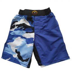 MMA Shorts - Blue Camo