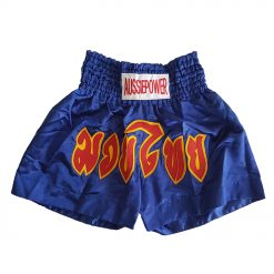 Muai Thai Shorts - blue with yellow and red