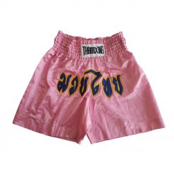 Muai Thai Shorts - pink with yellow and blue