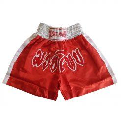 Muai Thai Shorts - red with white