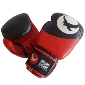 PU Boxing Gloves - Red/Black