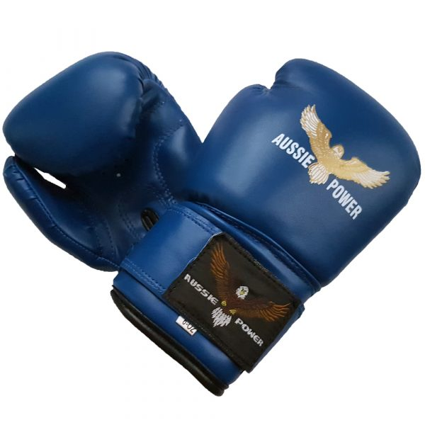 PU Boxing Gloves (Blue)